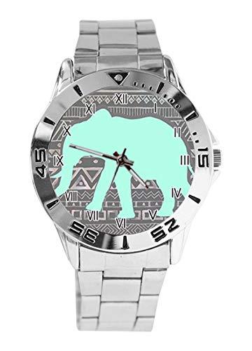 Elephants - Reloj analógico de Cuarzo para Mujer con diseño de Elefantes