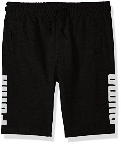PUMA Big Boys' Rebel Shorts Black-2, Small (8)