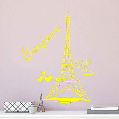 Zaosan Paris Tower Wandaufkleber Personalisierte Kind Mädchen Name Vinyl Wohnkultur Paris Coaster