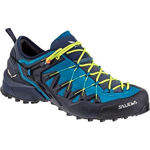 Salewa Wildfire Edge Shoes Herren Premium Navy/Fluo Yellow Schuhgröße UK 11,5 | EU 46,5 2019 Schuhe - 11.5 Herren Schuhe