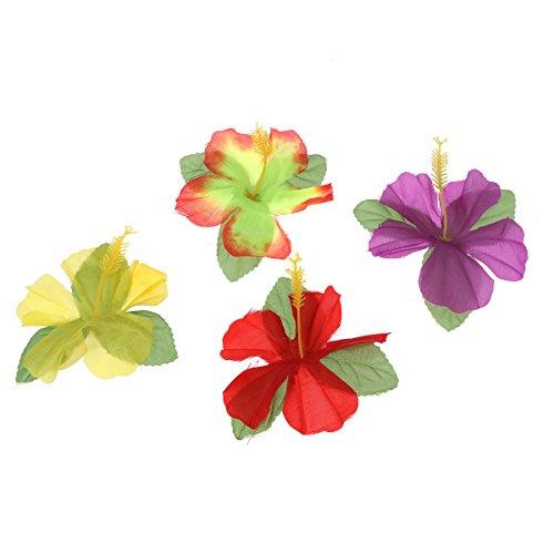 NUOBESTY 24 stücke Hawaiian gefälschte Blume Festival Party Dekoration Hibiskus Blume DIY Haarschmuck für Hochzeitsfest bevorzugung konfetti