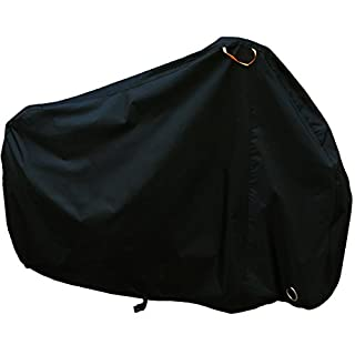 Maveek 2 Cycle Cover 210T Nylon Heavy Duty All Weather Waterproof Bike Cover with Lock Hole - Black