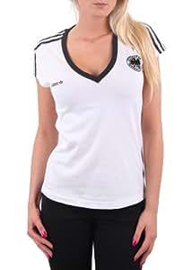 """Adidas Damen Shirt / Trikot """"E12 DFB Tee W"""" white Größe 34"""