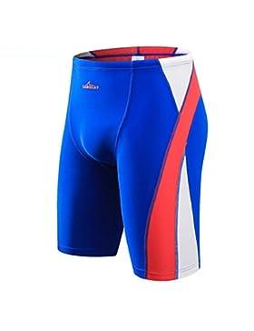 iiinnine Hombres Cómodo Cuadrilátero Troncos de natación Pantalones de playa Pantalones de aguas termales, xl
