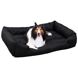 SONGMICS Panier pour Chien Lit XL 100 x 70 x 28 cm Dog Bed Coussin Matelas Animaux
