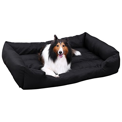 Songmics XL Luxus Hundebett Hundekissen Oxford Gewebe mit unten einen Anti-Rutschboden 100 x 70 cm PGW28H