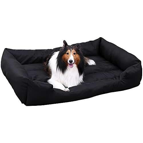 regalos tus mascotas mas kawaii Songmics XXL Cama ortopédica para perros Cómoda cuna para mascotas Rectangular Tamaño grande120 x 85 PGW30H