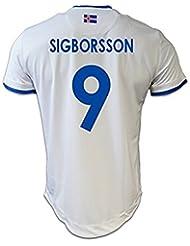 Generic 20162017Island 9Kolbeinn sigborsson Away Jersey in Weiß