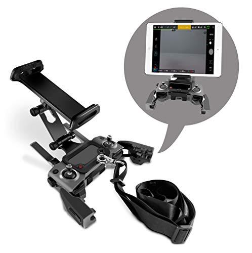 Rantow Mavic 2 Handy/Tablet Halterung Lanyard Mount für DJI Mavic 2 Pro/Mavic 2 Zoom Drohne Remote Controller, verlängerte Fronthalterung für 4,3 bis 11 Zoll Smartphone Tablet Handy Guard