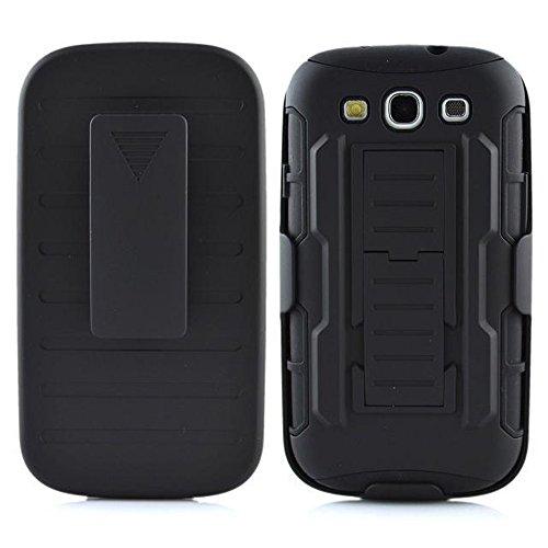 Samsung Galaxy S3Case, meaci (TM) Coque pour Samsung Galaxy S33en 1Combo hybride Defender High Impact ArmorBox Coque rigide pour PC Coque souple en silicone avec étui Clip béquille C