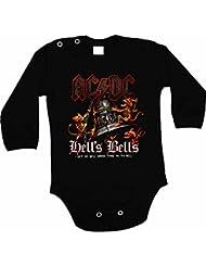 Bebé BodyAC-DC el infierno de colour negro campanas Designe y body de manga larga