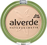 alverde NATURKOSMETIK Make-up Powder Foundation soft ivory 10, 10 g, vegan