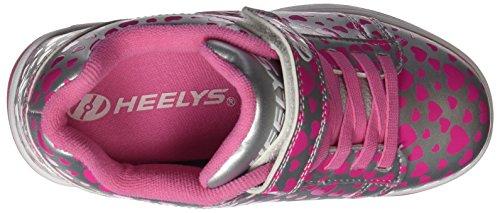 Heelys X2 Dual Up, Scarpe da Ginnastica Bambina Argento (Silver / Hearts)