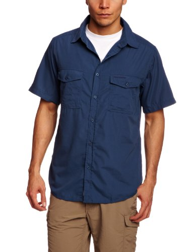 Craghoppers Herren Outdoor Reise Hemd Outdoor Reise Kiwi Kurzarm Hemd, Blau (Faded Indigo), Gr. 56 (Herstellergröße: XL)