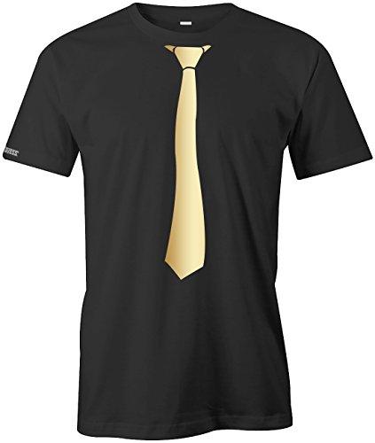 Tshirt Gold-männer (JGA - Krwatte Sportlich Style - HERREN - T-SHIRT in Schwarz-Gold by Jayess Gr. XXXL)