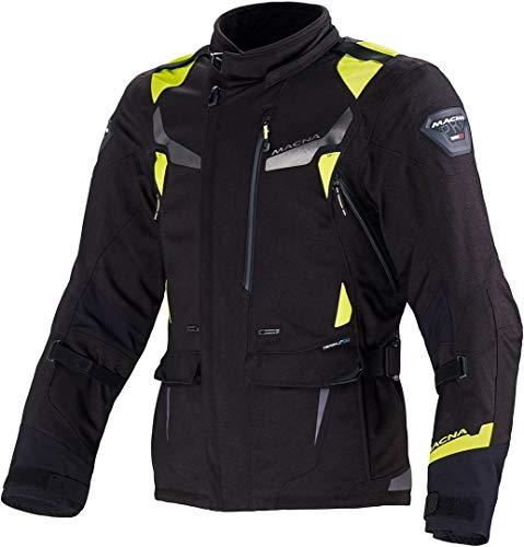 Macna Impact Pro Motorrad Textiljacke Schwarz/Neon 4XL -