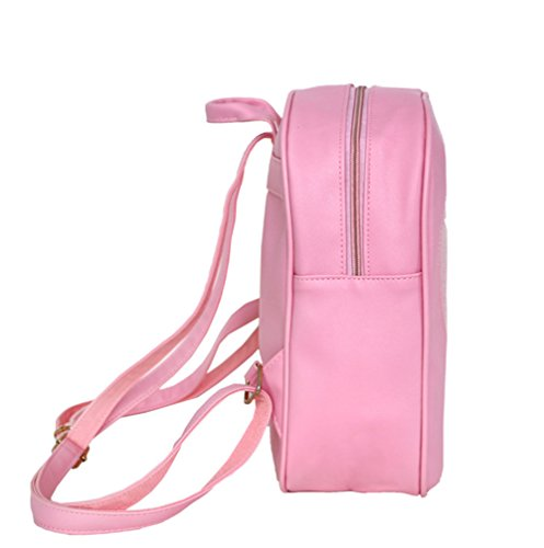 Modakeusu TM Candy zaino in pelle plastica trasparente cuore Beach Girls School bag Pink White