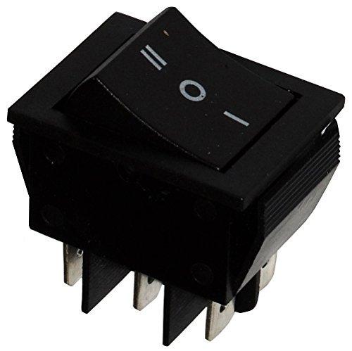 AERZETIX - Interrupteur commutateur contacteur bouton à bascule noir DP3T ON-OFF-ON 15A/250V 3 positions
