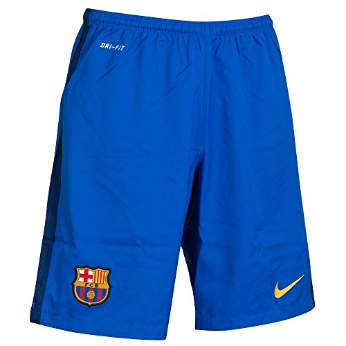 Nike Fcb Ha Gk Stadium Short - Pantaloncini da calcio Fútbol Club Barcelona 2015/2016, da uomo, UOMO, Azul / Dorado (Bright Blue/Loyal Blue/University Gold), L