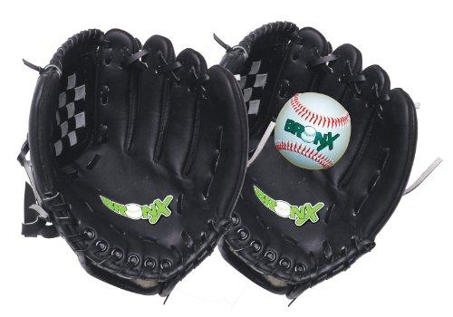 Bronx Senior Fanghandschuh-Set inkl. Ball, Schwarz/Weiß, 30,5 cm (12 Zoll) -