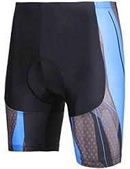 Shorts de vélo avec 3D Pad Shorts de vélo en polyester pour hommes Résistant aux rayons ultraviolets résistants à l'air haute