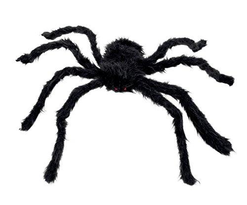 Boland 74394 - Haarige Spinne, 70 cm, schwarz (Halloween Spinne Dekorationen)