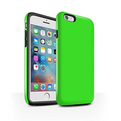 Coque Brillant Robuste Antichoc de STUFF4 / Coque pour Apple iPhone 5C / Noir Design / Couleurs Collection Vert
