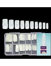 BEAUTRISTRO Artificial Nails Set With Glue Acrylic Face Nails Set Of 100 Pcs and Artificial Nail Glue 10gm Artificial Nails Reusable