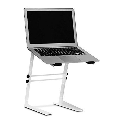 Couch Schreibtisch (Relaxdays Notebookständer höhenverstellbar, Laptophalter Schreibtisch, Laptopständer Metall, HxBxT 34 x 26 x 32 cm, weiß)