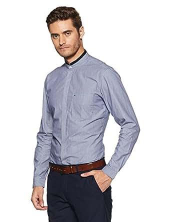 Indigo Nation Men's Formal Shirt (8907372923352_1ISE775239_39 cm_Blue)