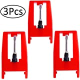 Replacement Needle for Turntable, Defrsk 3 Pack Recorder Player Needle For Crosley, Ion, Numark, Bush, Sanyo, Fisher, Pyle, Philips, Gemini