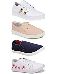SWIGGY Combo Pack of 4, Casual, Sneakers, Loafers Shoe for Women