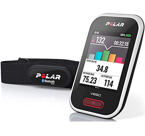 Polar V650 HR - Ciclocomputador de ciclismo con GPS y trasmisor de fre