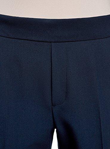 oodji Ultra Damen Enge Hose mit Elastischem Bund Blau (7900N)