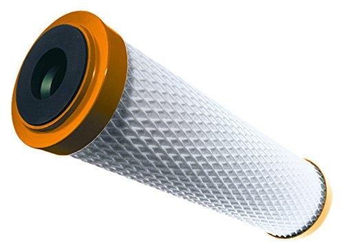 Carbonit 220IFPPURO-EV Cartuccia acqua filtrante al carbone attivo, monoblocco, con membrana capillare Ster-O-Tap, colore bianco/arancione, 7 x 24,7 cm