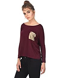 A Thousand Things Girl's Sequin Pocket Boat Neck Top