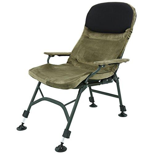 Zcxbhd Rasen Stühle Wildleder Liege Salon Liegend Zum Menschen Null Schwere Draussen Strand Camping Tragbar Stuhl (Armeegrün)