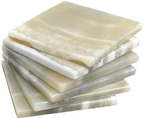 Alabaster Marble Coaster a set of 6