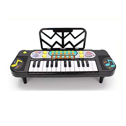 XIONGHAIZI Tastiera elettronica, pianoforte elettronico per bambini, adatto per bambini dai 3 ai 10 anni, 40 * 13 * 3 cm, nero (Color : Black-Charging version)