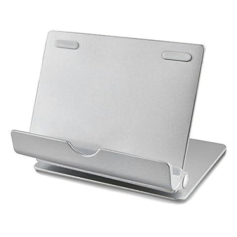 Alienwork Tablette Support pour 4-12 pouces Smartphone/Tablet Support Holder portable Aluminium argent AD401G-01