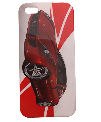 iCandy Matte Finish Soft Rubber Printed Back Cover for Apple iPhone 5, 5S - Red Ferrari  available at amazon for Rs.105
