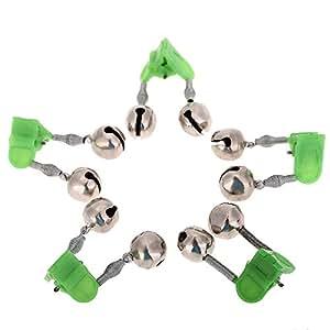 Lixada 5pcs Twin petites crochettes pêche détecteur Clip sur la canne à pêche pêche accessoire