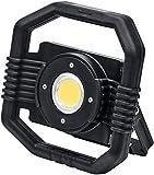Brennenstuhl Mobiler Hybrid LED Strahler DARGO / Hybrid Baustrahler (Arbeitsstrahler 30W mit Li-Ion Akku und abnehmbarem Kabel, IP65, Powerbank-Funktion) schwarz
