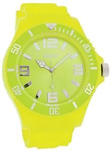 Oozoo Herren-Armbanduhr XL Analog Silikon C4332 fluo lime
