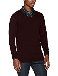 SELECTED HOMME Herren Pullover Shdtower Cot/Silk V-Neck Noos