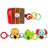 Mattel Fisher-Price DFP25 - Tierfreunde Set, Babyspielzeug für unterwegs