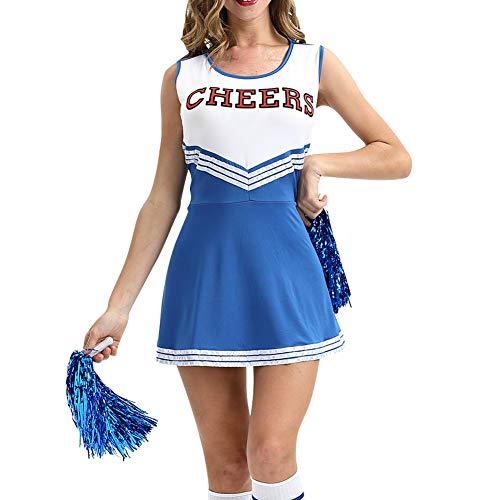achsene Bekleidung Tanzkleidung - Röcke Damen Gymnastik Cheerleader Kurze Hülsen Anzug Pompoms Karneval Outfit Bekleidung ()