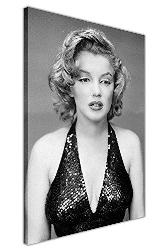 24 Zeitgenössische Leinwand (Weiß und Schwarz Marilyn Monroe Abendkleid Druck auf Leinwand Drucke Wand Poster Movie Pictures zeitgenössisch 05- A1 - 34