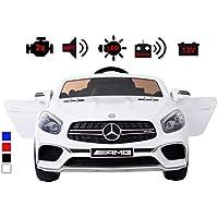 Kinderelektroauto - Mercedes SL 65 AMG - 2 Motoren - Kinderfahrzeug Lizenz + Fernbedienung