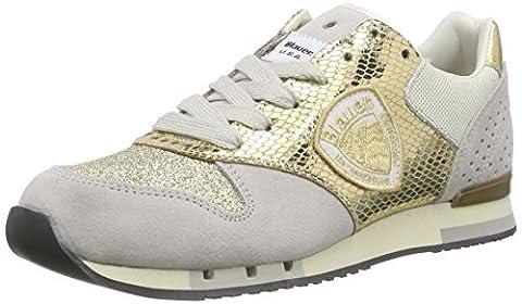 Blauer USA 6SWORUNORI/LAM, Sneakers Basses femme - Or - Doré, 40